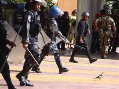 Represión policial 12 de agosto (fuente: defensoresenlinea)